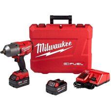 Аккумуляторный бесщеточный гайковерт 1/2 Milwaukee 2767-22 (ONEFHIWF12-502X) M18 FUEL™ High Torque™