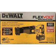 Аккумуляторная бесщеточная сабельная пила DEWALT DCS388T1 FLEXVOLT 60V MAX* 6.0 Ah