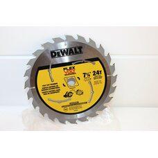 Диск пильный по дереву DEWALT DWAFV3724 Flexvolt 24T 185мм
