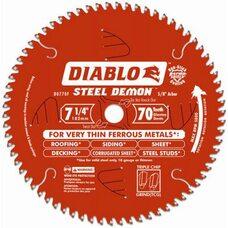 Диск отрезной для резки очень тонких черных металлов Freud 7 1/4 70Т 182мм Diablo